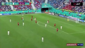 خلاصه بازی سوئیس ۱ (۱) - اسپانیا ۱ (۳)