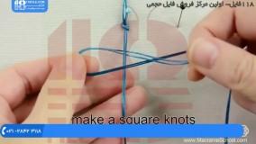 بافت دستبند مکرومه / آموزش بافت دستبند با مهره های رنگی