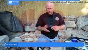 آموزش ساخت آبنما سنگی - نصب سیستم نورپردازی