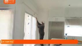 آموزش رنگ آمیزی ساختمان - نحوه رنگ آمیزی سریع خانه با پیستوله بدون هوا