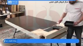 اجرای کفپوش اپوکسی - رزین اپوکسی میز ناهارخوری چوبی