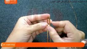 آموزش ساخت زیورآلات مسی زیورآلات دست ساز(انگشتر با مهره های زیر و درشت)