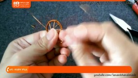 آموزش ساخت زیورآلات _ آموزش ساخت پایه گوشواره مفتولی