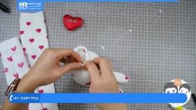 آموزش عروسک سازی :: ساخت عروسک :: عروسک با جوراب :: بافت عروسک با جوراب ساق بلند ساده
