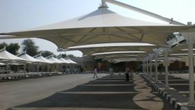 سایبان توقفگاه خودروو ارامستان-سایبان پارکینگ فرودگاه -حقانی09380039391-زیباترین سایبان چادری پارکینگ بیمارستان