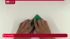 آموزش اوریگامی :: ساخت کاردستی :: اوریگامی متحرک :: ساخت دایناسور تیرکس با کاغذ رنگی