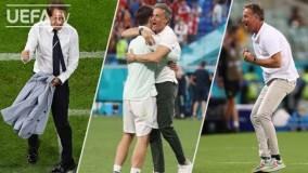 واکنش و  خوشحالی های سرمربیان در یورو 2020