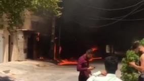 انفجار ترانس برق در اهواز ۳ خودرو را به آتش کشید