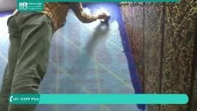 آموزش رنگ آمیزی ساختمان   رنگ آمیزی دیوار ( ایده رنگ آمیزی طرح دار دیوار )