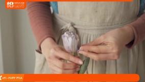 آموزش گل آرایی | فیلم گل آرایی | گل آرایی مدرن | گل آرایی طبیعی (سته گل عروس با گل یاسمن)