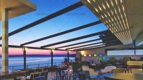 زیباترین سقف برقی رستوران-سایبان متحرک فودکورت رستوران-حقانی 09380039391-فروش سقف جمع شونده تالار