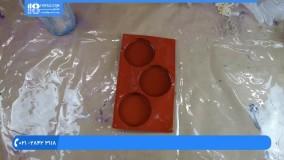 آموزش زیور آلات رزینی | ساخت زیورآلات | بدلیجات رزینی (ساخت آویز با شکوفه های بهاری)