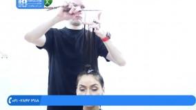 آموزش کوتاه کردن مو  مدل کوتاهی مو  مو کوتاه و بلند (مدل مو برای موی فر)
