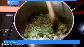 آموزش آشپزی|غذای خشمزه ایرانی|طرز تهیه غذا(طرز تهیه بستنی با مربا و میوه)