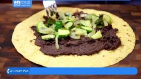 آموزش آشپزی آسان|آموزش پخت غذا|پخت غذای خشمزه(سمبوسه مرغ و قارچ)