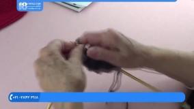 آموزش بافت دستبند • آموزش بافت سبد لباس(بافت حلقه حلقه)