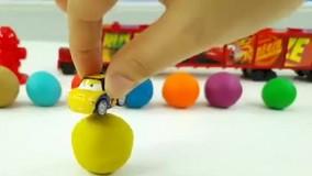 ماشین بازی کودکانه تریلی مک کویین و خمیر بازی ساخت میوه