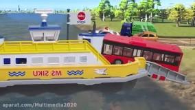 ماشین بازی کودکانه تعقیب دزد و پلیس و ریزش پل روی رودخانه