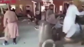 ورزش کردن عجیب نیروهای طالبان در باشگاه
