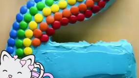 تزئین کیک به شکل اعداد کیوت
