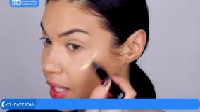 آموزش خودآرایی|میکاپ صورت|فیلم آرایش عروس( روش پر پشت کردن مژه )