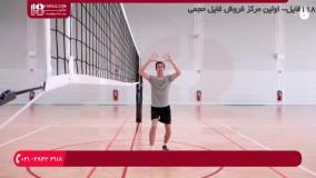 والیبال به کودکان-آموزش والیبال- ارسال از بالا