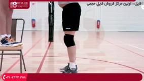 والیبال به کودکان-آموزش والیبال- تمرین پرش برای دفاع کردن