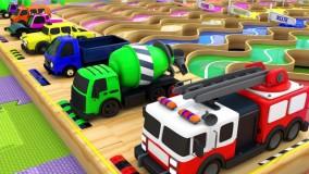 کارتون ماشین های رنگی _ این داستان جاده رنگی ماشین ها