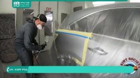 آموزش نقاشی خودرو-ترکیب رنگ پایه با کلیر