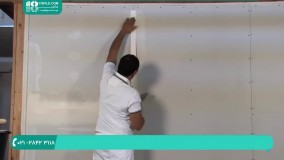 کناف کاری-کناف سقف- آموزش درزگیری روی دیوار