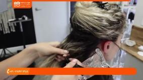رنگ کردن مو-آموزش هایلایت مو-آموزش هایلایت کردن موی فر