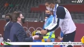 مدال طلای المپیک بر گردن محمدرضا گرایی