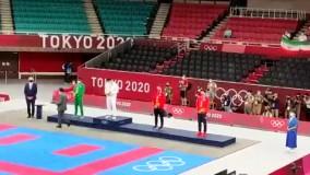 سجاد گنج زاده در مراسم اهدای مدال شرکت کرد