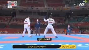مصدومیت تلخ عباسعلی مقابل حریف چینی و حذف از المپیک