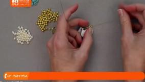 ساخت زیورآلات مهره ای- آموزش ساخت زیور آلات مهره ای گردنبند کریستال