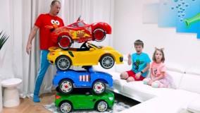 ماجراهای کودکانه مکس و کیتی _ با داستان ماشین بازی