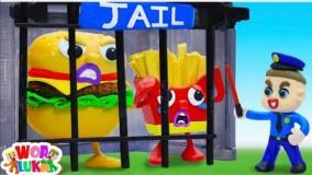 انیمیشن خمیر بازی کودکانه _ با داستان یادگیری عادات سالم غذایی