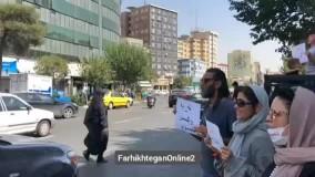 تجمع تعدادی از مخالفان واکسیناسیون مقابل وزارت کشور  1