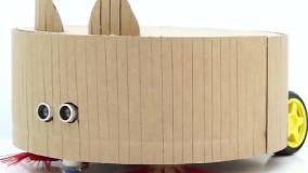 آموزش ساخت جاروبرقی رباتیک با مقوا