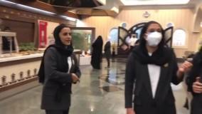 آوازخوانی اعضای تیم ملی فوتبال بانوان ایران