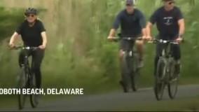 دوچرخه سواری بایدنِ بی خیال ، انتقادات را برانگیخت