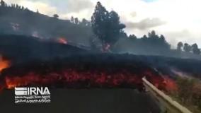 فوران آتشفشان در جزیره لا پالما اسپانیا