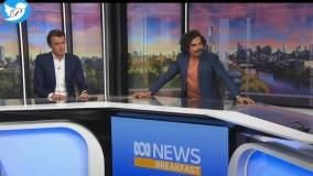 ترس مجری معروف استرالیایی هنگام وقوع زلزله