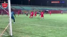خلاصه بازی پرسپولیس 5-0 امید پرسپولیس
